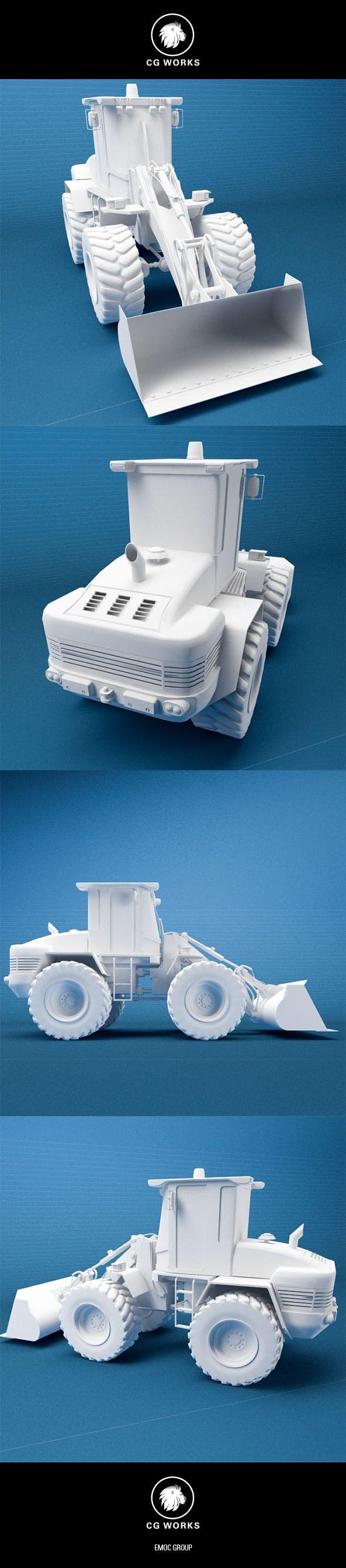 Construction machinery C4D & OBJ IV - 3DOcean Item for Sale