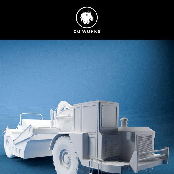 Construction machinery C4D & OBJ VI