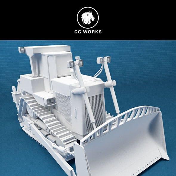 Construction machinery C4D & OBJ IX