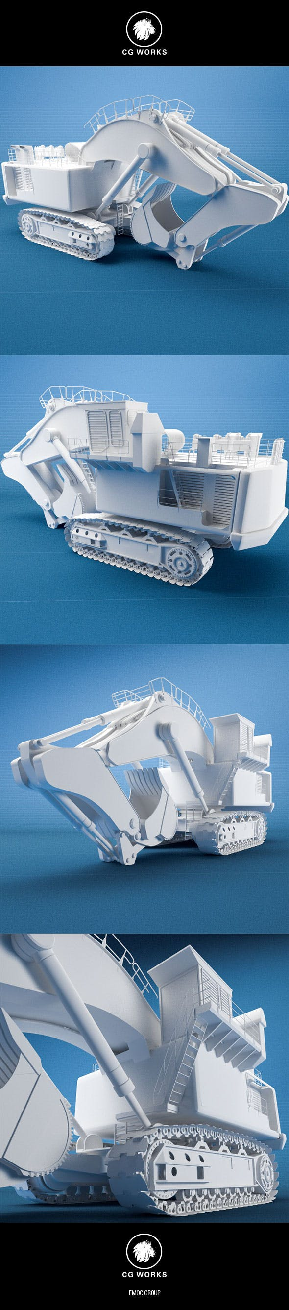 Construction machinery C4D & OBJ XI - 3DOcean Item for Sale