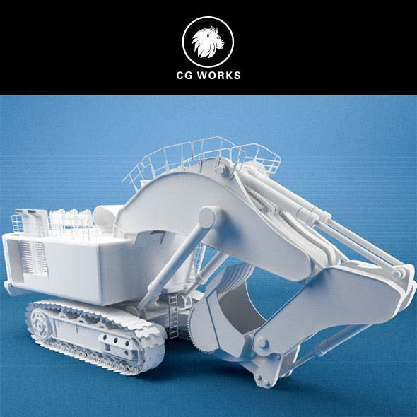 Construction machinery C4D & OBJ XI