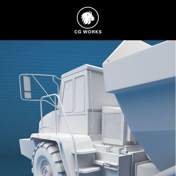 Construction machinery C4D & OBJ XIV