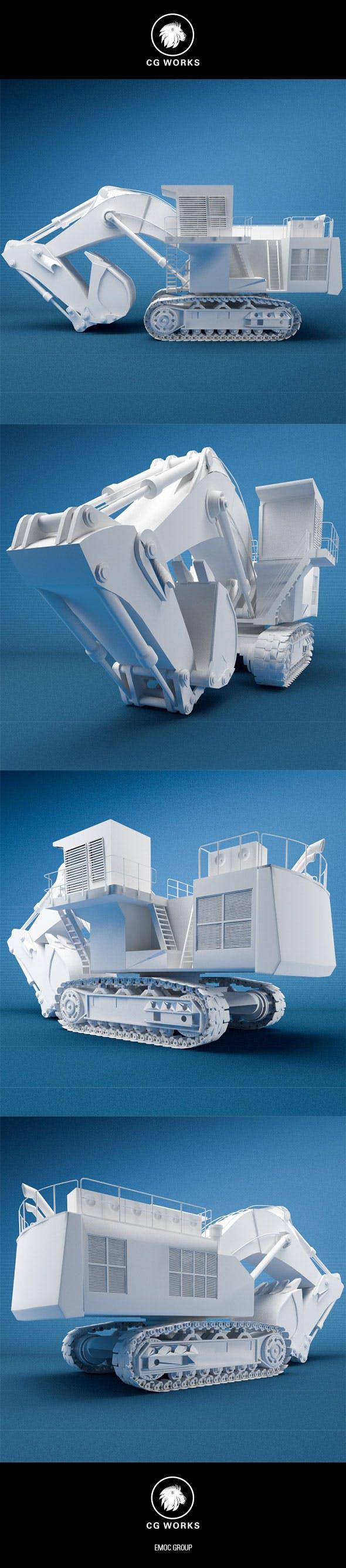 Construction machinery C4D & OBJ XVII - 3DOcean Item for Sale