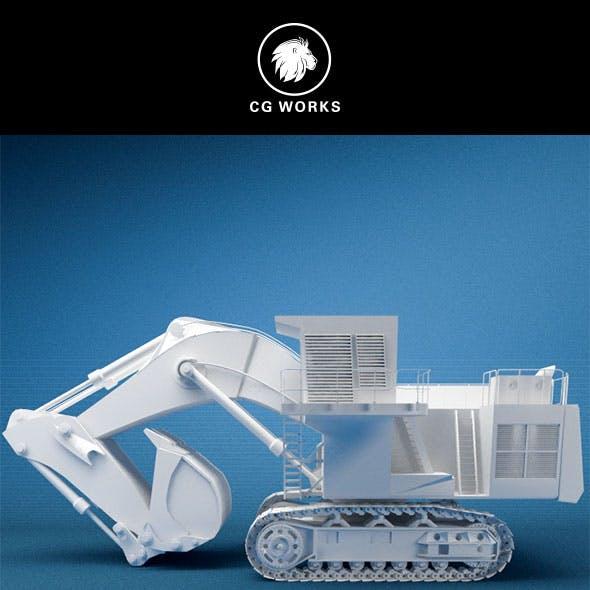 Construction machinery C4D & OBJ XVII