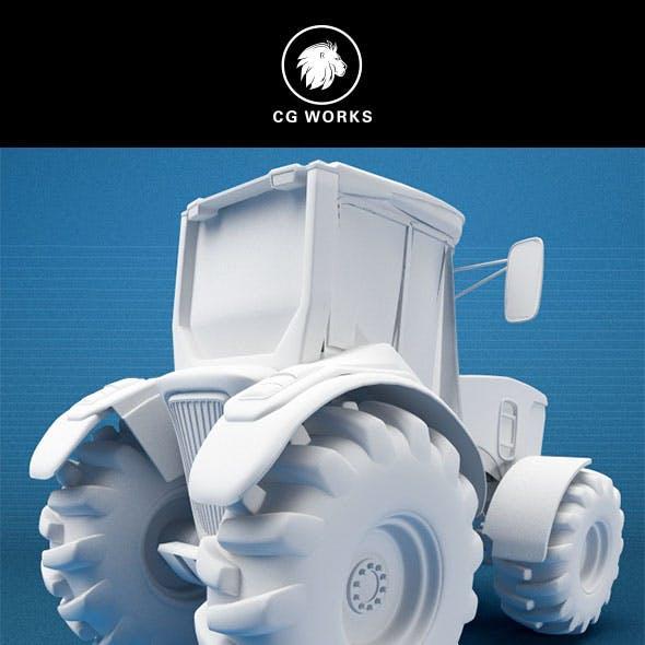 Construction machinery C4D & OBJ XIX