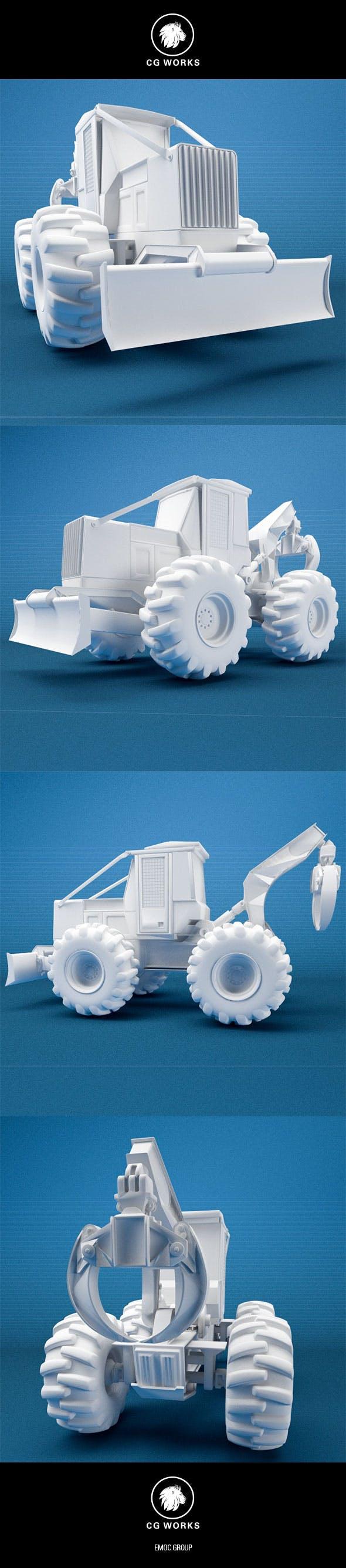 Construction machinery C4D & OBJ XXII - 3DOcean Item for Sale