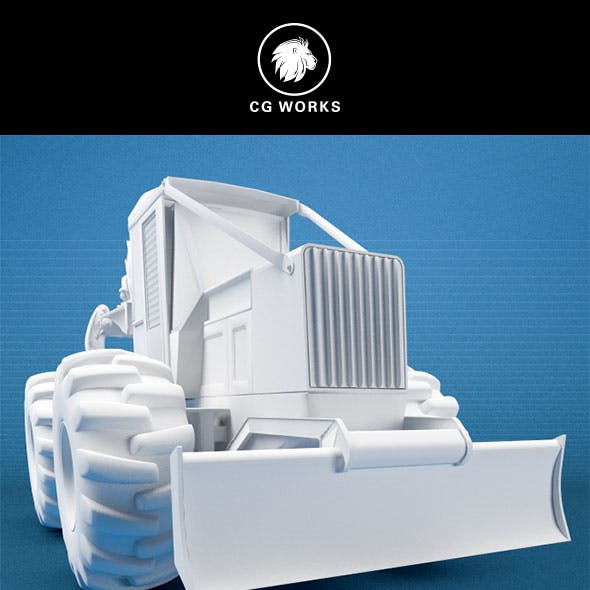 Construction machinery C4D & OBJ XXII