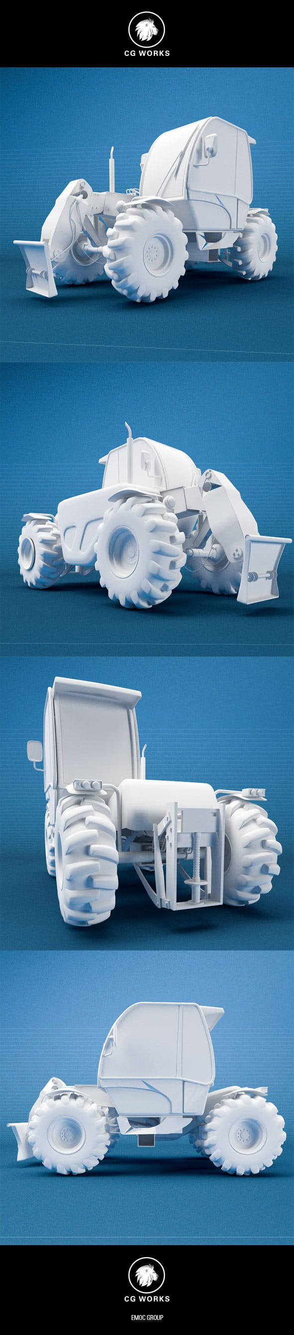 Construction machinery C4D & OBJ XXV - 3DOcean Item for Sale