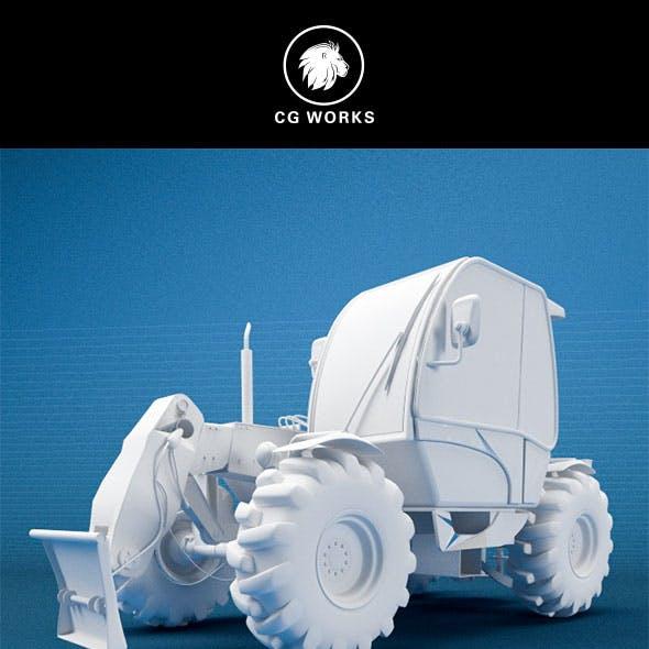 Construction machinery C4D & OBJ XXV