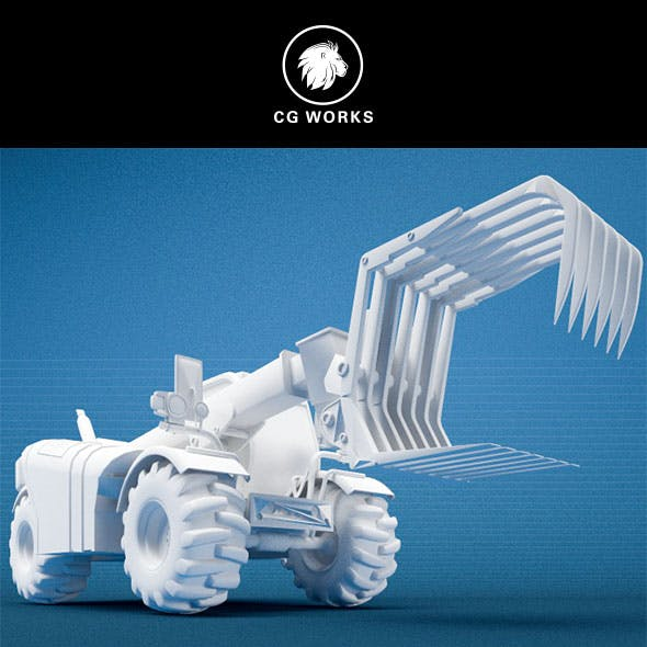 Construction machinery C4D & OBJ XXVII