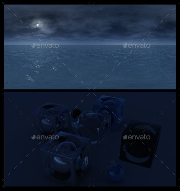 Ocean Night 7 - HDRI - 3DOcean Item for Sale