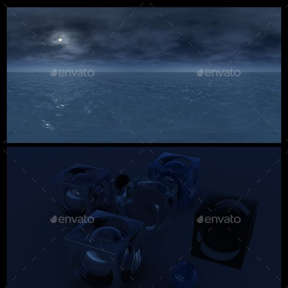 Ocean Night 7 - HDRI