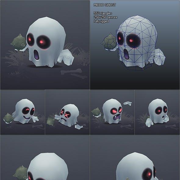 Low Poly Micro Ghost Hubert