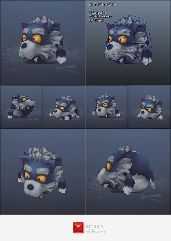 Low Poly Micro Werewolf Otis - 3DOcean Item for Sale