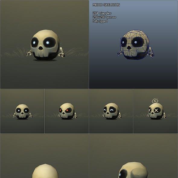 Low Poly Micro Skeleton Tom