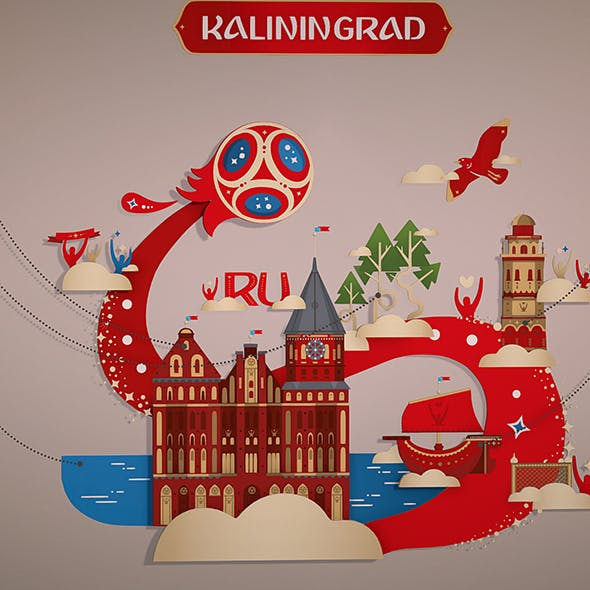 Russian style kaliningrad city