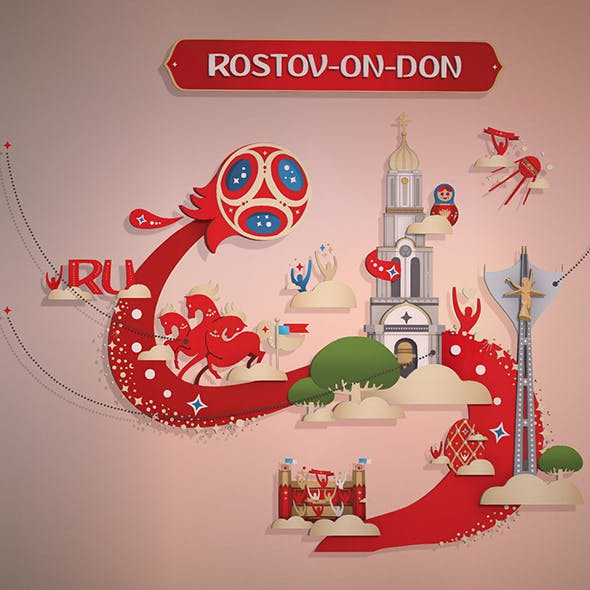 Russian style Rostov city