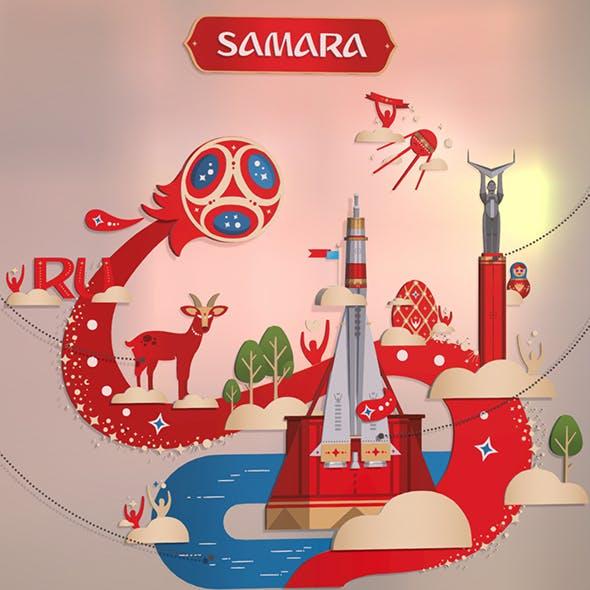 Russian style Samara city