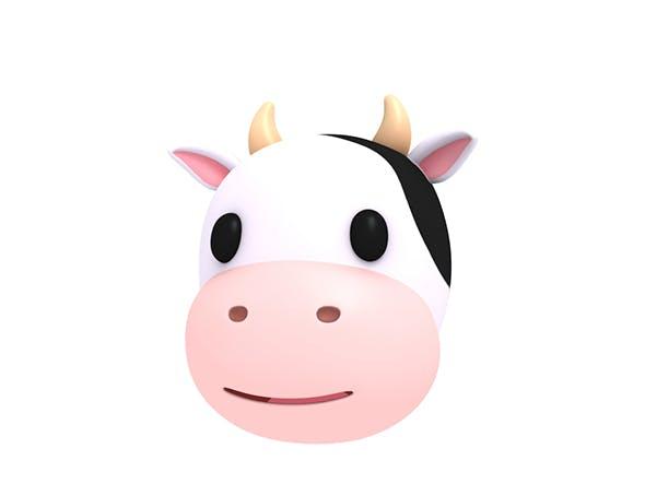 Cow Head - 3DOcean Item for Sale