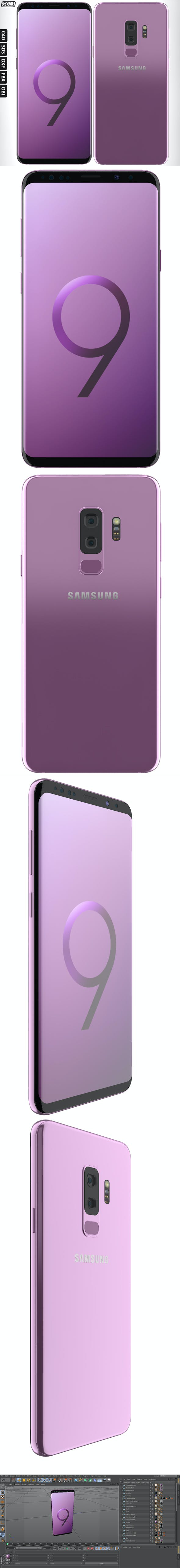 Samsung Galaxy S9 Plus Orchid Gray - 3DOcean Item for Sale