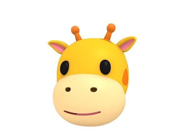 Giraffe Head - 3DOcean Item for Sale