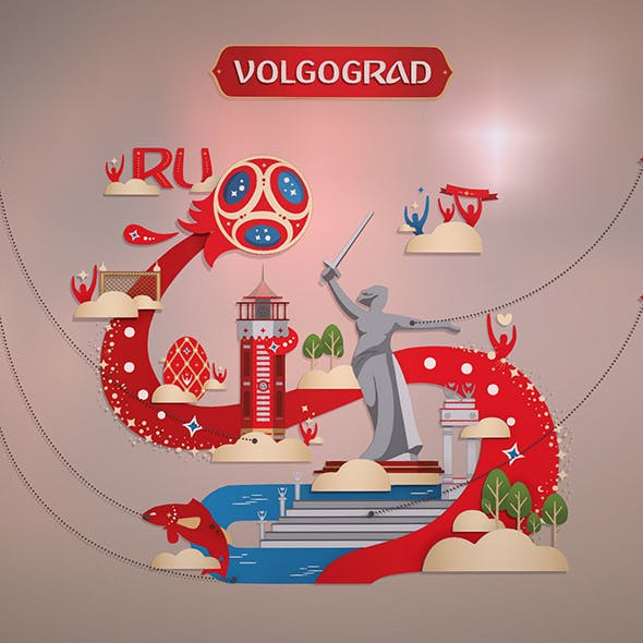 Russian style Volgograd city