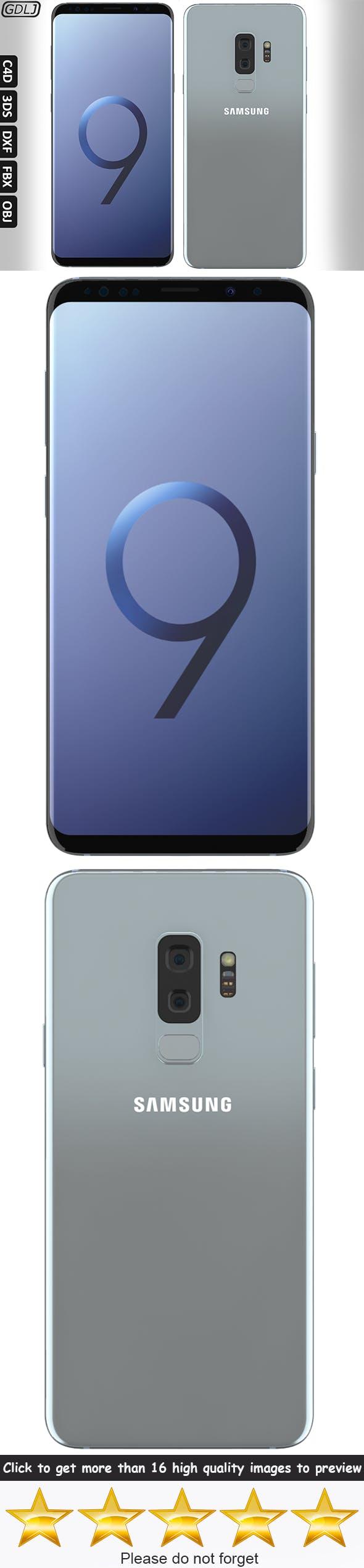 Samsung Galaxy S9 Plus Silver Titanium - 3DOcean Item for Sale
