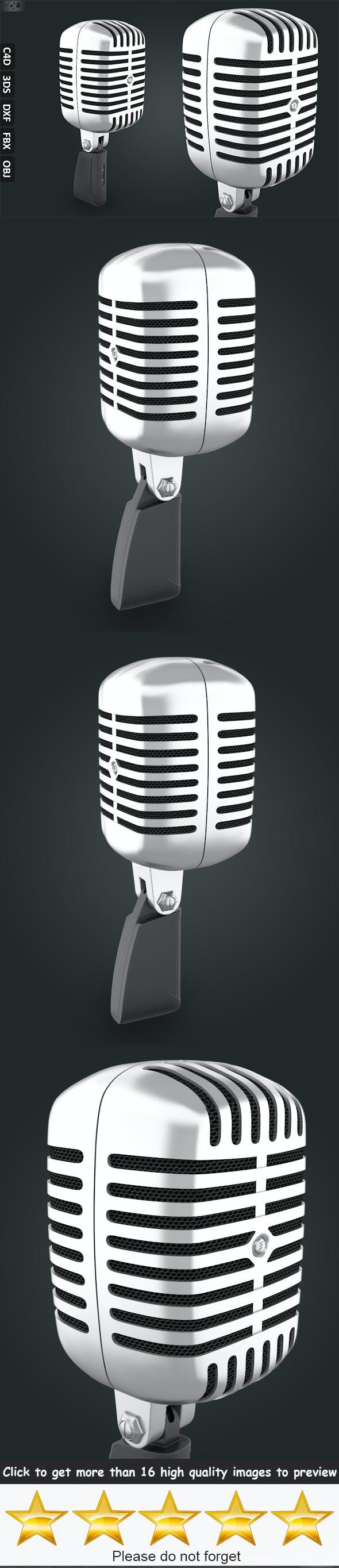 Microphone 1955 Vintage - 3DOcean Item for Sale