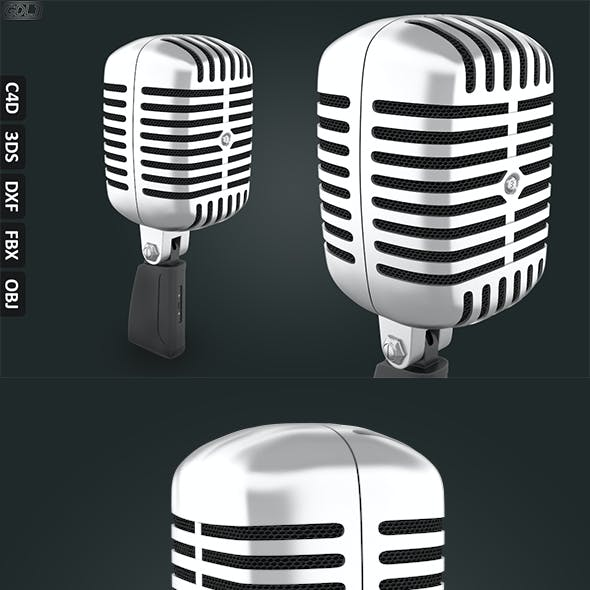 Free 3D Microphone Model CG Textures & 3D Models from 3DOcean