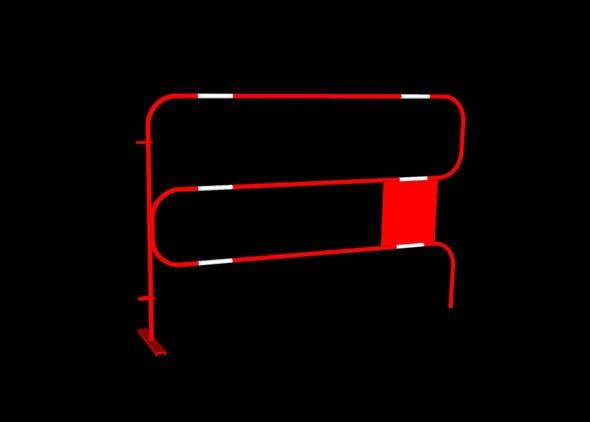 Roadworks barrier - 3DOcean Item for Sale