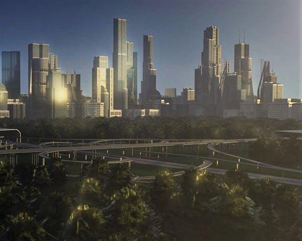 Freeway05 City - 3DOcean Item for Sale