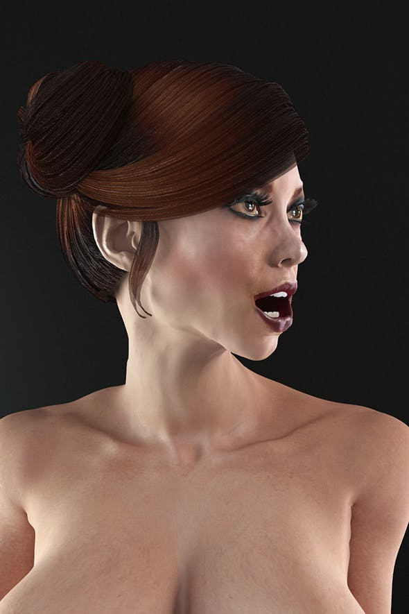Female nude rigged - 3DOcean Item for Sale