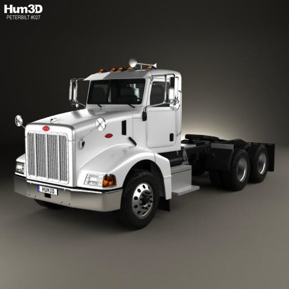 Peterbilt 385 Day Cab Tractor Truck 2007 - 3DOcean Item for Sale