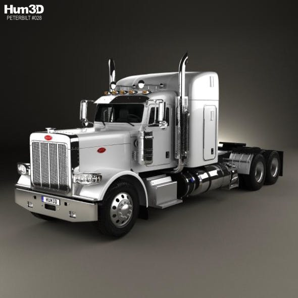 Peterbilt 388 Sleeper Cab Tractor Truck 2013 - 3DOcean Item for Sale