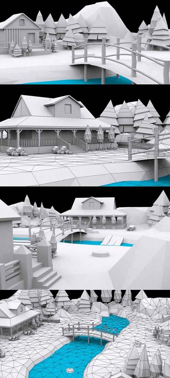 Cartoon Palace - 3DOcean Item for Sale