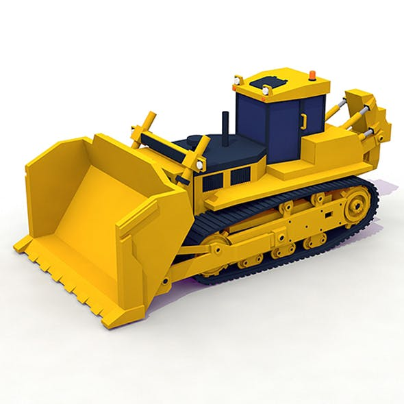 Heavy Bulldozer - 3DOcean Item for Sale