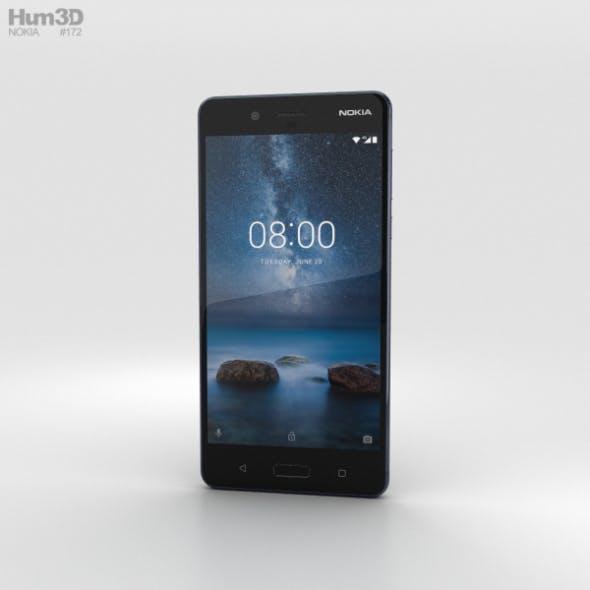 Nokia 8 Polished Blue - 3DOcean Item for Sale