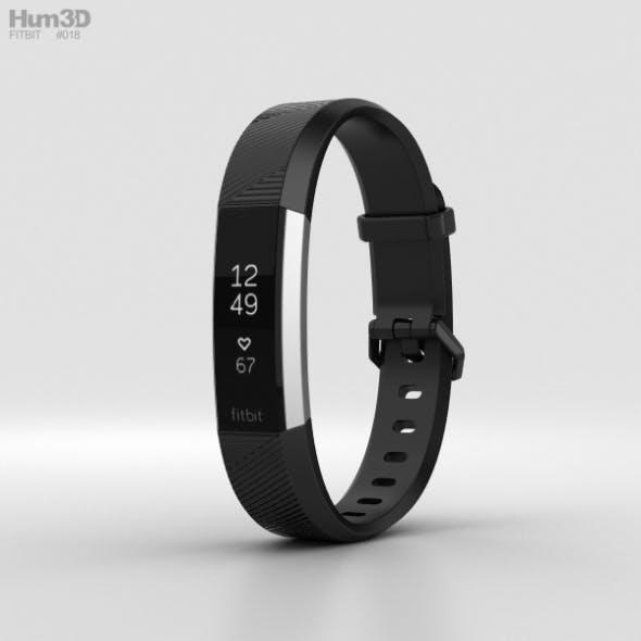 Fitbit Alta HR Black Stainless Steel - 3DOcean Item for Sale