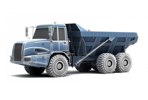 Heavy - Dump Truck 3d model - 3DOcean Item for Sale