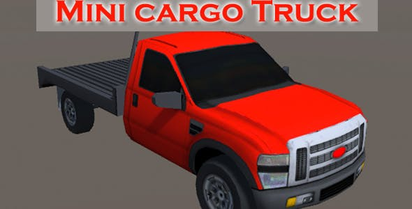 Mini Cargo Truck - 3DOcean Item for Sale