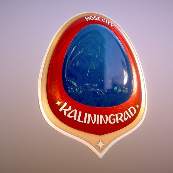 Kaliningrad City World Cup Russia 2018 Symbol