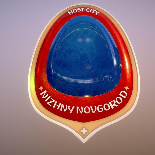 Nizniy Novgorod City World Cup Russia 2018 Symbol - 3DOcean Item for Sale