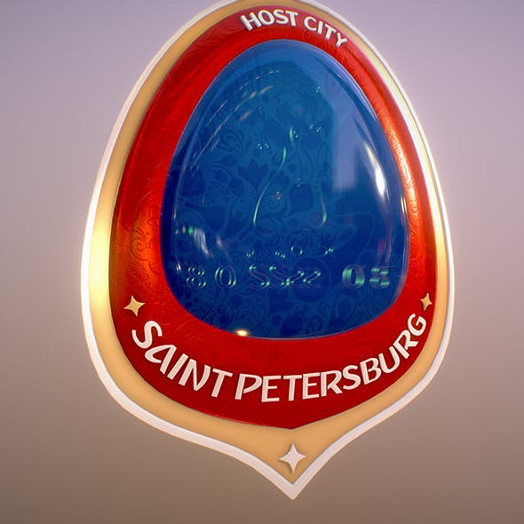 Saint Petersburg City World Cup Russia 2018 Symbol