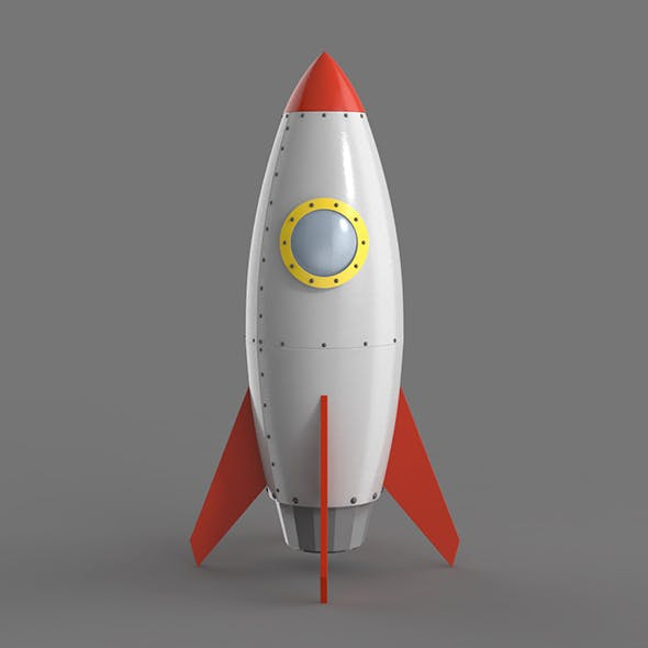 Spaceship rocketship cartoon simple High and Low Poly - 3DOcean Item for Sale