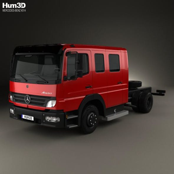 Mercedes-Benz Atego Crew Cab Chassis Truck 2004 - 3DOcean Item for Sale