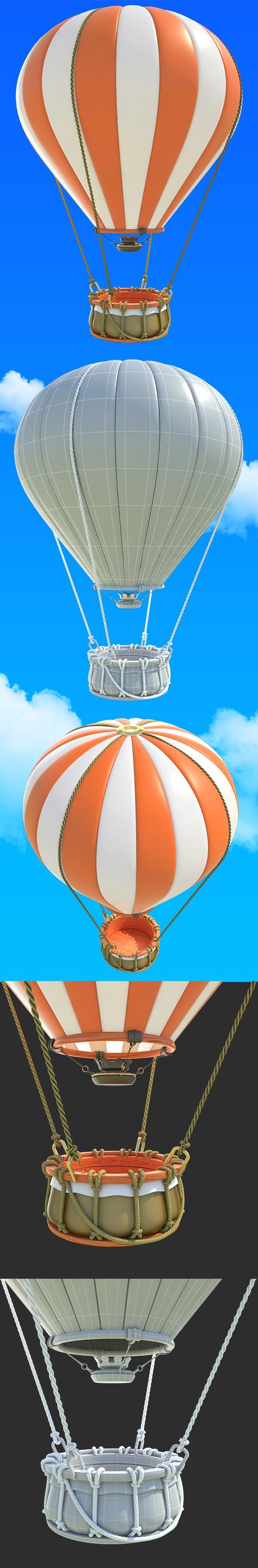 Cartoon Hot Air Balloon - 3DOcean Item for Sale