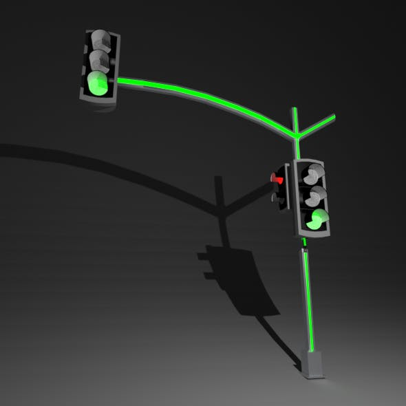 Traffic Lights with Led - 3DOcean Item for Sale