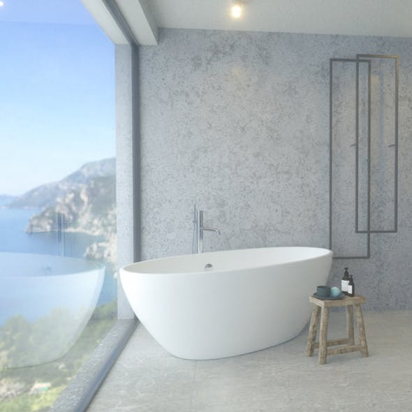 Bathroom with a view - 3DOcean Item for Sale