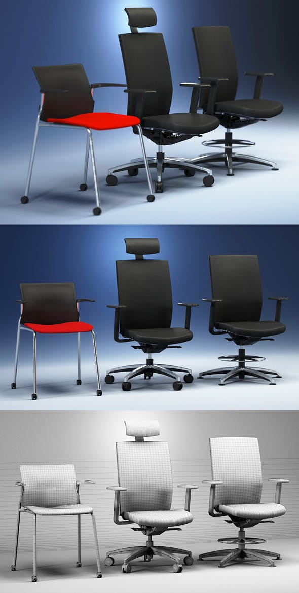 Quality 3dmodel of modern chairs Cato. Kloeber - 3DOcean Item for Sale