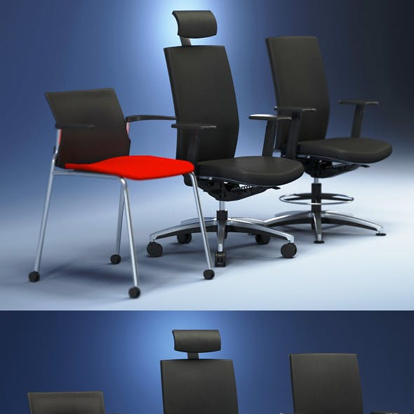 Quality 3dmodel of modern chairs Cato. Kloeber